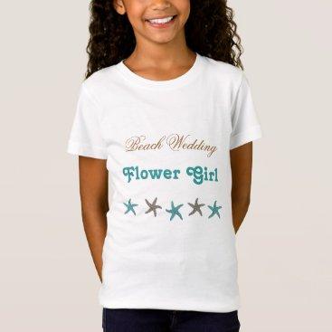 sandpiperwedding Beach Wedding Starfish Flower Girl T-Shirt