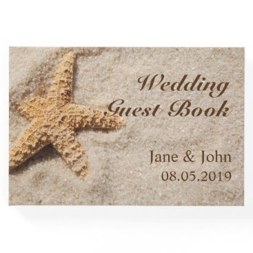 Beach Themed Beach Wedding Starfish Guest Book