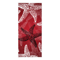 Beach Wedding Starfish Red Card
