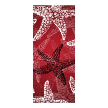 Beach Themed Beach Wedding Starfish Red Card