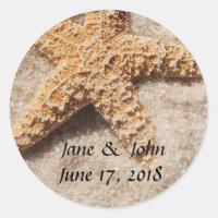 Beach Wedding Starfish Stickers