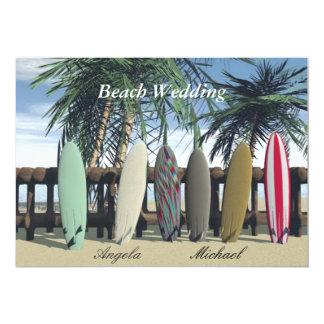 Beach Wedding Surfboards Invitation Personalized Invitations