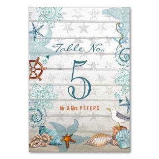 Beach Wedding | Table name settings | Tablecard Card