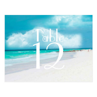 Beach Wedding Table Number Card Post Cards