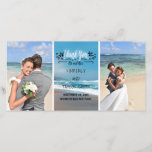 "Beach Wedding Thank You<br><div class=""desc"">2 photos photo card - beach themed wedding thank you photo card</div>"