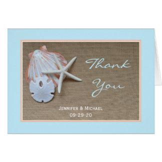 Beach Wedding Thank You Card