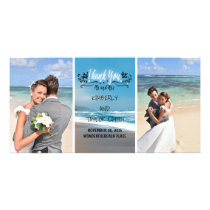 Beach Wedding Thank You Card