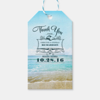 Beach Wedding Thank You Gift Tags