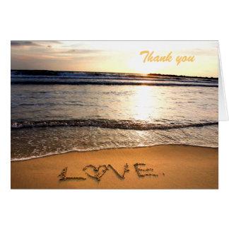Beach Wedding Thank You Note Card