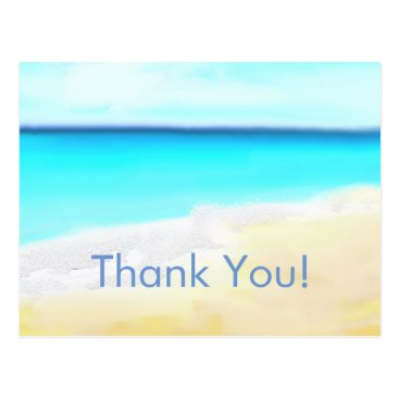 weddingbouquet Beach Wedding, thank you note Postcard