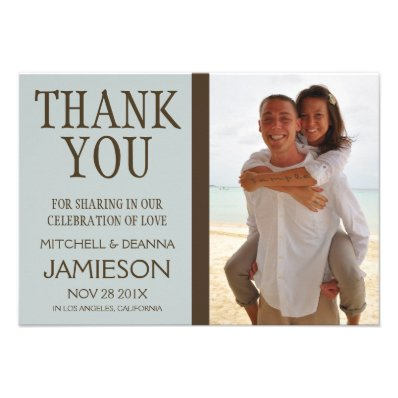 Beach Wedding Thank You Personalized Invites