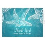 "Beach Wedding ""Thank you"" Starfish Blue Cards"