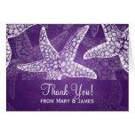 "Beach Wedding ""Thank you"" Starfish Purple Cards"