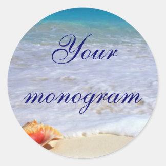 Beach Wedding Theme Envelope Seals Labels
