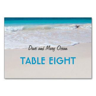 Beach Wedding Theme Escort Table Seating Cards