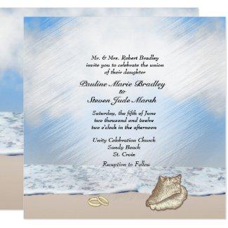 Beach Wedding Theme Invitation