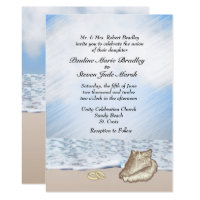 Beach Wedding Theme Invitation
