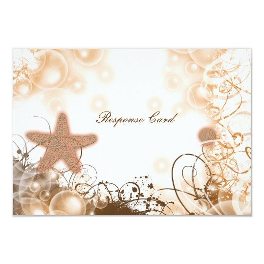 Beach wedding theme ~ response rsvp card 2