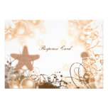 Beach wedding theme ~ response rsvp card personalized invite