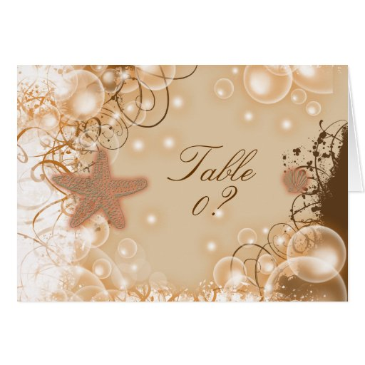 Beach Wedding Theme Table Seating 2 Placement Greeting Card