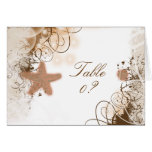 Beach wedding theme ~ table seating placement greeting card