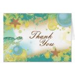 Beach wedding theme ~ thank you cards