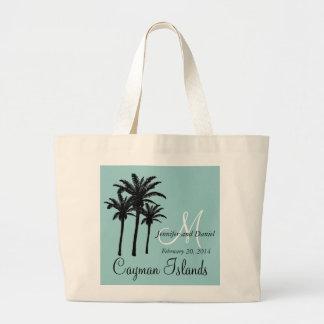 Beach Wedding Tote Bags Caribbean Palm Trees