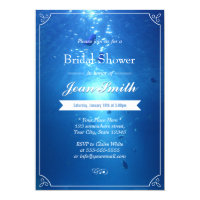 Beach Wedding Under the Sea Bridal Shower Card