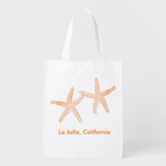 Beach Wedding Welcome Bag (Orange Starfish) Market Totes