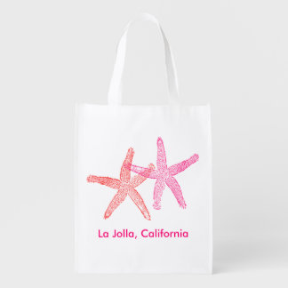 Beach Wedding Welcome Bag (Pink & Red) Market Tote