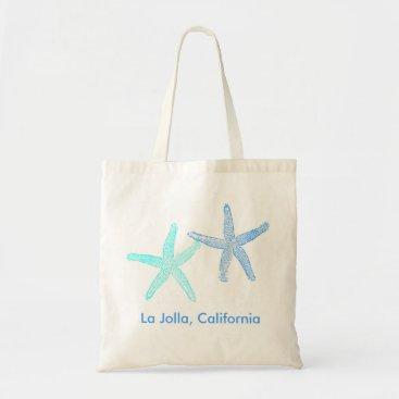 Beach Themed Beach Wedding Welcome Bag Tote (Blue Starfish)