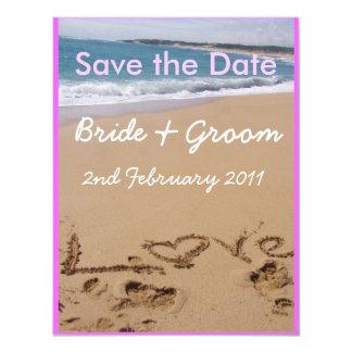 Beach Wedding - Your choice of colour! Card