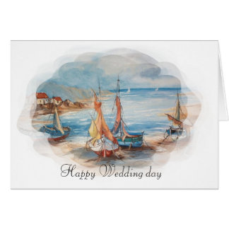 beach weddings card