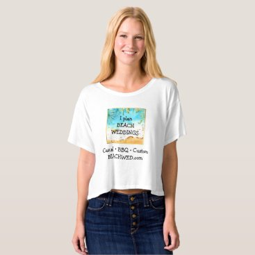 Professional Business Beach Weddings Planner Business Ad T-shirt