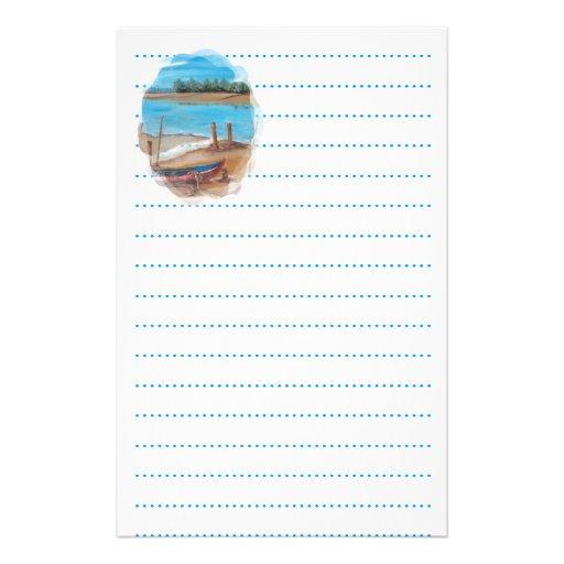 beach weddings stationery paper