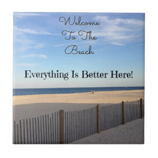 Beach Welcome Ceramic Tiles