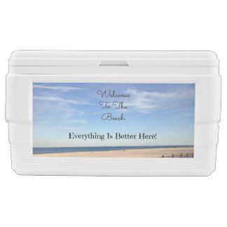 Beach Welcome Igloo Chest Cooler
