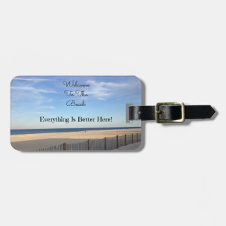 Beach Welcome Luggage Tag