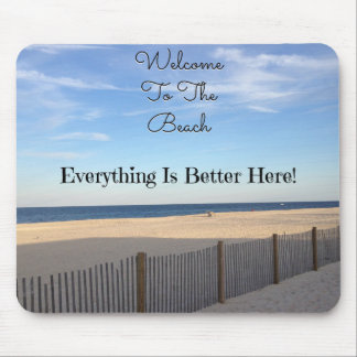 Beach Welcome Mouse Pad