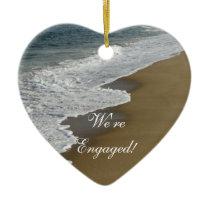Beach We're Engaged Ceramic Ornament