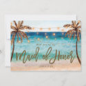 beach will you be my maid of honor proposal card