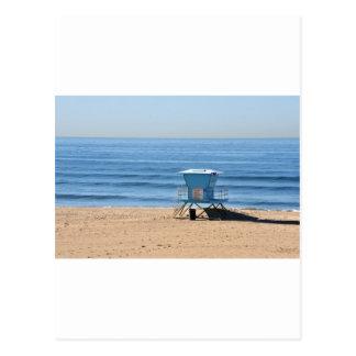 Beach with a Baywatch Cabin Postcard