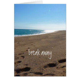 Beach with Break Away Quote Card