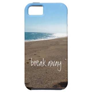 Beach with Break Away Quote iPhone 5 Cover