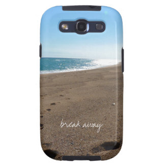 Beach with Break Away Quote Samsung Galaxy S3 Cover