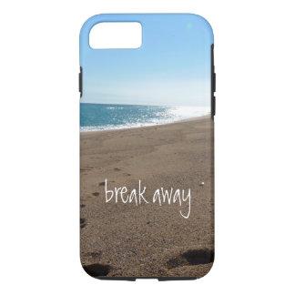 Beach with Break Away Quote iPhone 7 Case