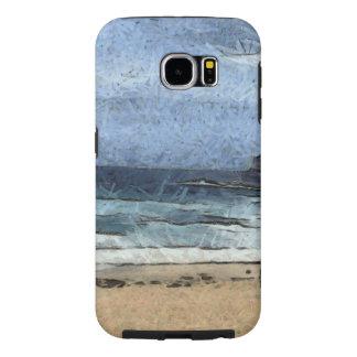 Beach with few people samsung galaxy s6 case