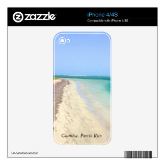BEACH WITH GREEN BLUE LAGOON, GUANICA, PUERTO RICO SKIN FOR iPhone 4S