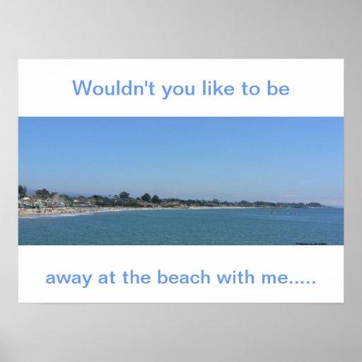 Beach With Me Print
