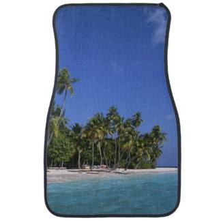 Beach with palm trees, Maldives Car Floor Mat